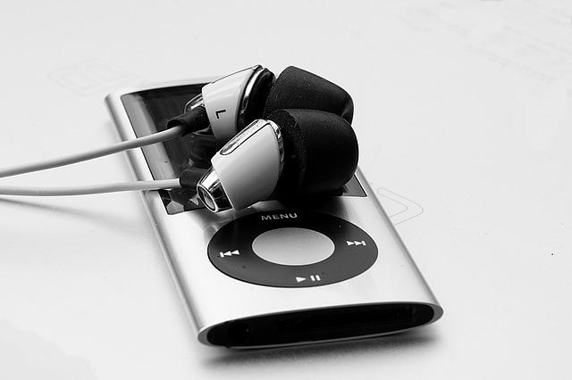 iPod Nano with ear buds
